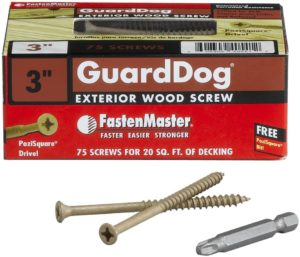 FastenMaster FMGD003-75 GuardDog Exterior Wood Screw